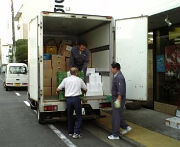 秋田から到着