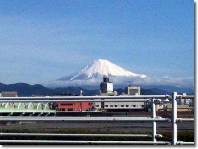 配達中の富士山