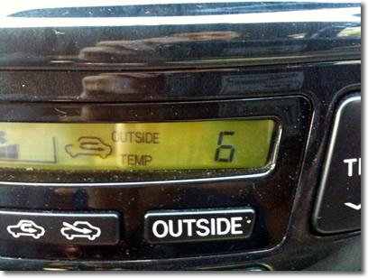 6℃でした。