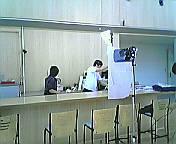 朝日テレビの取材