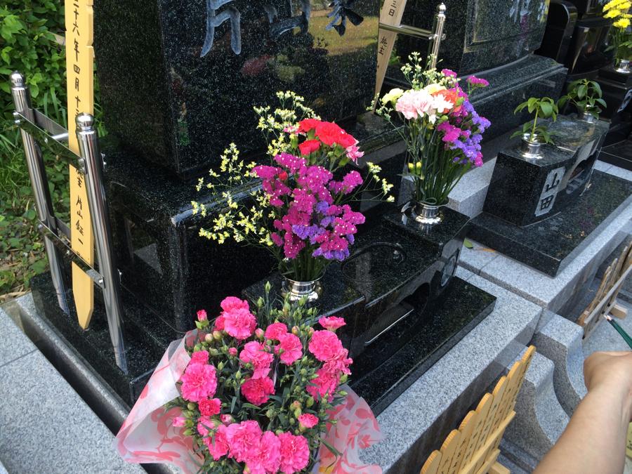 母の日のお墓参り